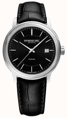 Raymond Weil Hombre | maestro | automático | esfera negra | cuero negro 2237-STC-20011