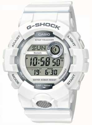 Casio | g-shock | reloj deportivo, seguidor de pasos | correa de goma blanca GBD-800-7ER