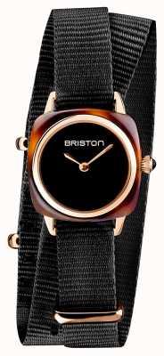 Briston El | dama del clubmaster | sola correa nato negra | caparazón de tortuga 19924.PRA.T.1.NB