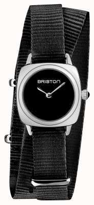 Briston El | dama del clubmaster | sola correa nato negra | esfera negra | 19924.S.M.1.NB