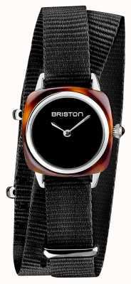 Briston El | dama del clubmaster | soltero negro nato | acetato de tortuga | 19924.SA.T.1.NB