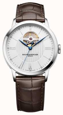 Baume & Mercier | mens classima | cuero marrón | esfera plateada | automático | M0A10274