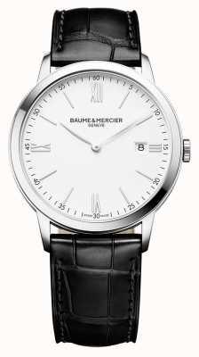 Baume & Mercier El | mens classima | correa de cuero negro | esfera blanca | M0A10323