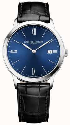 Baume & Mercier | mens classima | correa de cuero negro | esfera azul | M0A10324