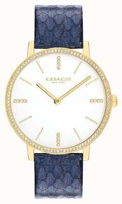 Coach El | mujeres | audrey | cuero azul marino metalizado | esfera blanca | 14503351