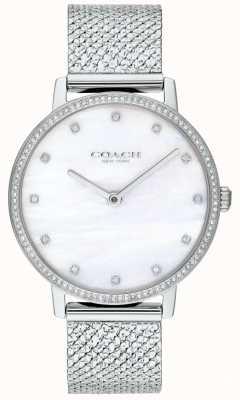 Coach El | mujeres | audrey | malla de acero inoxidable | esfera de perlas | 14503358