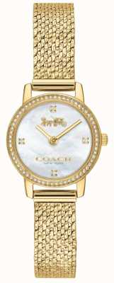 Coach El | mujeres | audrey | malla de pvd de oro | esfera de perlas | 14503371