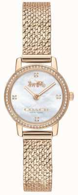 Coach El | mujeres | audrey | malla de pvd de oro rosa | esfera de perlas | 14503372