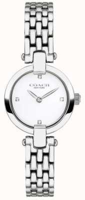 Coach El | mujeres | chrystie | pulsera de acero | esfera blanca | 14503390
