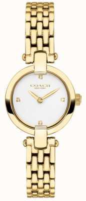 Coach El | mujeres | chrystie | pulsera de oro pvd | esfera blanca | 14503391