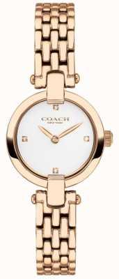 Coach El | mujeres | chrystie | pulsera de pvd de oro rosa | esfera blanca | 14503392