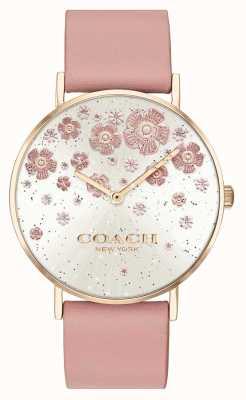 Coach El | perry | rubor correa de cuero | esfera de brillo floral | 14503325