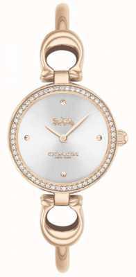 Coach El | mujeres | parque | brazalete de oro rosa | esfera plateada | 14503447