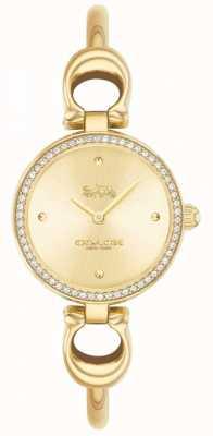 Coach El | mujeres | parque | brazalete de oro pvd | esfera de oro | 14503446