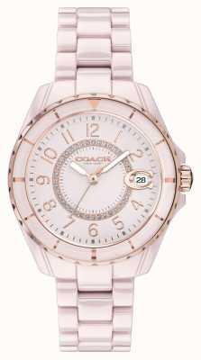 Coach El | mujeres | preston | pulsera de cerámica rosa | esfera rosa | 14503463