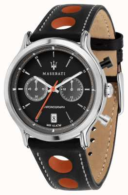 Maserati | epoca racing 42mm | correa de cuero negro | esfera negra | R8851138003
