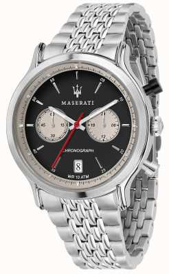 Maserati | epoca racing 42mm | pulsera de acero inoxidable | esfera negra R8873638001