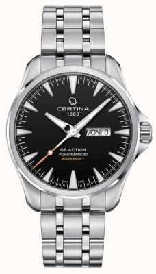 Certina | ds action powermatic 80 | acero inoxidable | esfera negra | C0324301105100