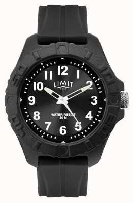Limit | análogo adulto activo para hombre | correa de caucho negro | 5754.01