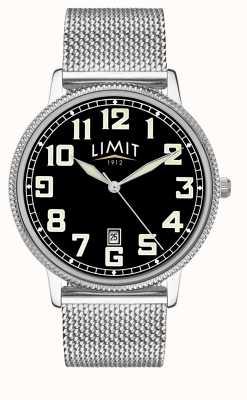 Limit | pulsera de malla de acero inoxidable para hombre | esfera negra | 5748.01