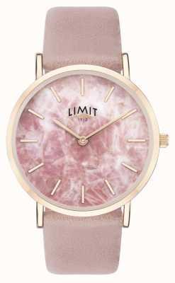 Limit | jardín secreto para mujer | correa de cuero rosa | esfera rosa | 60050.73