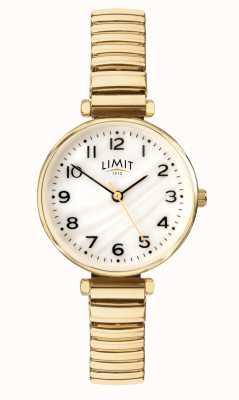 Limit | pulsera chapada en oro para mujer | esfera en nácar | 60063.01