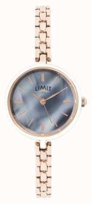 Limit | pulsera de oro rosa para mujer | esfera azul | 60064.01