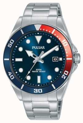 Pulsar | deporte casual | pulsera de acero inoxidable | esfera azul | PG8291X1