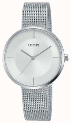 Lorus | pulsera de malla de acero inoxidable para mujer | esfera plateada | RG257QX9