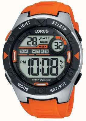 Lorus | mens sports digital | correa de caucho naranja | R2303NX9