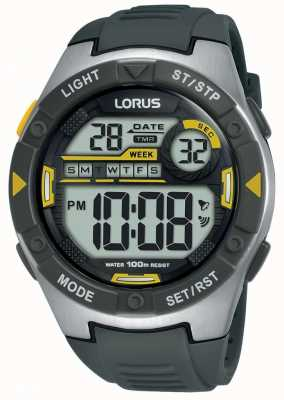 Lorus | mens sports digital | correa de caucho negro | R2397MX9
