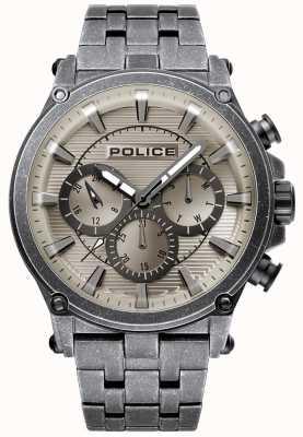 Police | taman para hombre | pulsera de acero inoxidable | esfera gris bronce 15920JSQU/20M