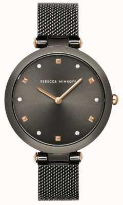 Rebecca Minkoff Mujer nina | pulsera de malla gris | esfera gris | 2200302