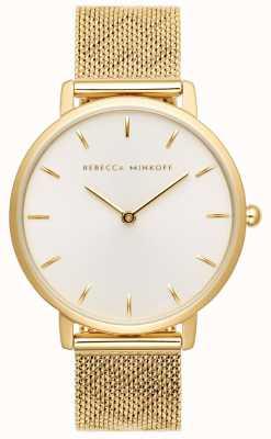 Rebecca Minkoff Las mujeres mayores | pulsera de malla chapada en oro | esfera plateada 2200298