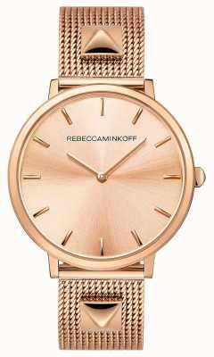 Rebecca Minkoff Grandes mujeres | malla chapada en oro rosa | esfera de oro rosa | 2200003