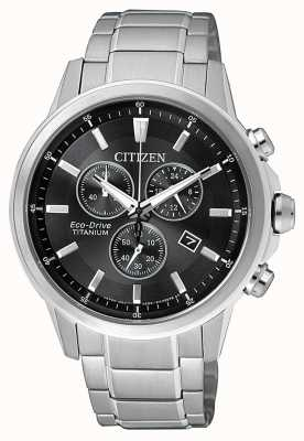 Citizen | mens eco-drive titanium wr100 | esfera negra / gris | AT2341-88E