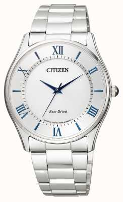 Citizen El | hombre eco-drive | pulsera de acero inoxidable | esfera plateada | BJ6480-51B