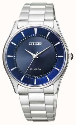 Citizen El | hombre eco-drive | pulsera de acero inoxidable | esfera azul | BJ6480-51L