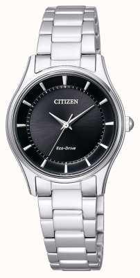 Citizen | unidad ecológica para mujer | pulsera de acero inoxidable | esfera negra | EM0401-59E