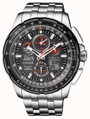 Citizen | skyhawk de eco-drive para hombre en | pulsera de titanio | esfera negra JY8069-88E
