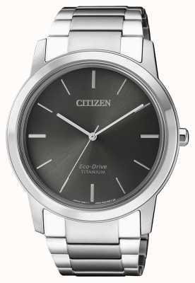 Citizen | mens eco-drive titanium wr50 | esfera gris | AW2020-82H