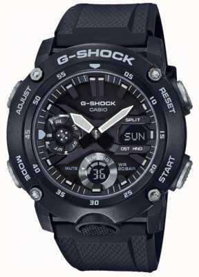 Casio | protector de núcleo de carbono g-shock | correa de caucho negro | GA-2000S-1AER