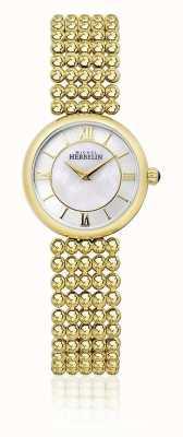 Michel Herbelin | mujer perle | pulsera dorada | esfera en nácar | 17483/BP19