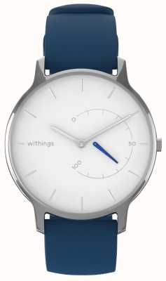 Withings Move intemporal chic - silicona blanca, azul HWA06M-TIMELESS CHIC-MODEL 2-RET-INT