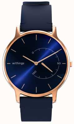 Withings Mueve el atemporal chic - cuero azul, oro rosa HWA06M-TIMELESS CHIC-MODEL 3-RET-INT