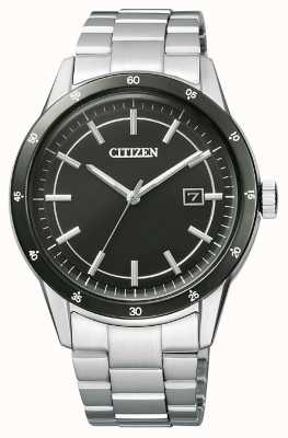 Citizen El   hombre eco-drive   pulsera de acero inoxidable   esfera negra   AW1164-53E