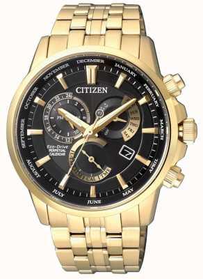 Citizen | calibre para hombre eco-drive 8700 | esfera negra | tono dorado | BL8142-84E