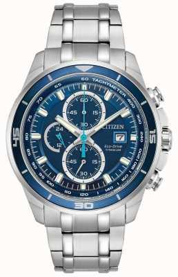 Citizen El | mens eco-drive titanium wr100 | esfera cronógrafo azul | CA0349-51L