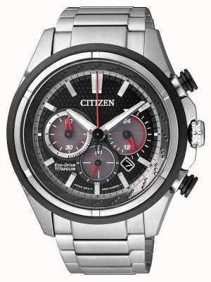 Citizen El | hombre eco-drive | pulsera de titanio | esfera negra | CA4241-55E