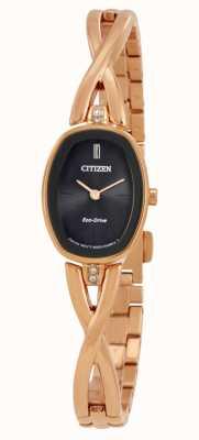 Citizen | silueta de mujer eco-drive | pulsera dorada | EX1413-55E